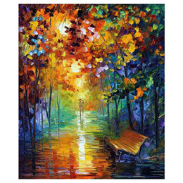 """Autumn Forest Paintings Australia - 24""""x48"""" The maple tree hand-painted canvas forest of autumn sofa setting wall painting stair adornment porch painted"""