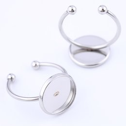 Rings bases online shopping - Shukaki Stainless Steel mm Glass Cabochon Ring Bases Setting Diy Bezel Blanks For Rings Making Diy Jewelry Accessroies