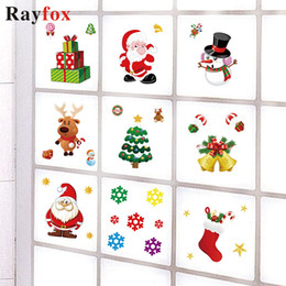 $enCountryForm.capitalKeyWord Australia - 2019 Christmas Ornaments Window Sticker Home Sticker Santa Claus Elk Snowman Xmas Decor Christmas Decorations For Home Kids Gift