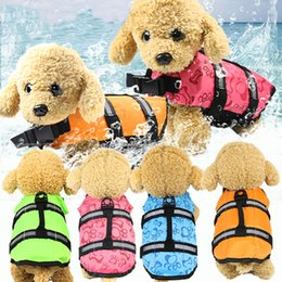 Pet Dog Life Jacket Safety Clothes Life Vest Collar Harness Saver Pet Dog Swimming Preserver Summer Swimwear Mermaid Shark Harmonious Colors Dog Vests