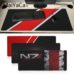 Large game mouse pad online shopping - MaiYaCa Mass Effect N7 Game Logo Rubber Pad to Mouse Game Anime Cartoon Print Large Size Mouse Pad Keyboard Mat Desk Mat