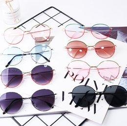 Kids Summer Sunglasses UK - Vieeoease Kids Sunglasses 2019 Summer Fashion Baby boomer Labial Rimless sun glasses anti ultraviolet children sunglasses CC-320