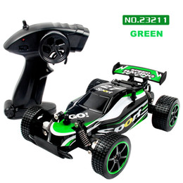 Green Truck Cars Australia - wholesale Fashion 2.4GHZ 2WD Radio Remote Control Off Road RC RTR Racing Car Truck Excellent off-road Performance JAN24