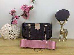 venda por atacado favoritos multi-pochette acessórios bolsa senhoras bolsa bolsa genuína flor de couro ombro crossbody bolsas 3 pcs sacos bolsa