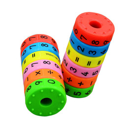 Chinese  Baby Math learning Toys Student Mini Educational Magnetic Stick cylinder Puzzle Number Toys Calculate Learn Counting manufacturers