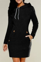 wholesale plus size clothes Australia - women clothes new fashion elegant lady European American hooded high collar long sleeve sweater dress for women S-5XL 2