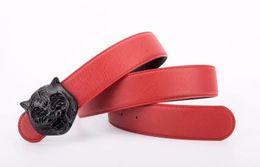 Chinese  New design tiger head pattern belt buckle new quality popular fashion luxury belt designed for men and women cattle belt designer manufacturers