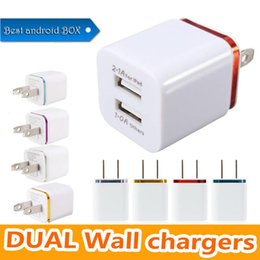 $enCountryForm.capitalKeyWord Australia - Ship in One Day ! Metal Dual USB wall Charging Charger US EU Plug 2.1A AC Power Adapter Wall Charger for Iphone Samsung