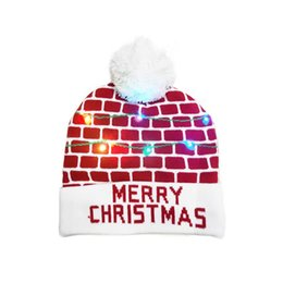 lighted hats NZ - New Year LED Light Christmas Hats Beanie Sweater knitted Christmas Light Up Knitted Hat for Kid Adult For Christmas Party
