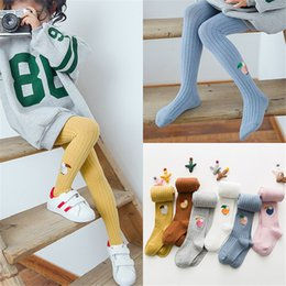 $enCountryForm.capitalKeyWord NZ - Kids Girls Leggings 14 Colors 1-12t Girls Cotton Embroidery Cartoon Animal Head Socks Kids Designer Clothes Girls Pantyhose DHL FJ205
