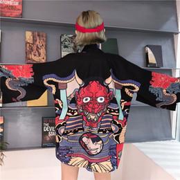 972050bd482 Japanese Summer Kimono Australia - Summer Harajuku Blouse Women Man Kimono  Cardigan Japanese Cartoon Printed Loose