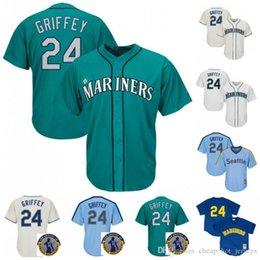 Suzuki logoS online shopping - 51 Ichiro Suzuki Seattle jersey Mariners Ken Griffey Jr Robinson Cano Baseball Jerseys Logos Stitched baseball Jerseys
