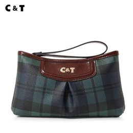 $enCountryForm.capitalKeyWord NZ - Old cobbler C&T brand Top quality manual quality Small Tote Coated canvas fashion latticed pattern bag Mobile phone bags