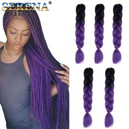 Discount two tone hair xpression braid - Xpression braiding hair kanekalon synthetic Crochet Braids twist 24inch 100g Ombre Two Tone jumbo braids Crochet Hair Ex