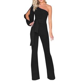 $enCountryForm.capitalKeyWord UK - Elegant Women Jumpsuit Solid Long Sleeve Cold Shoulder Casual Jumpsuit High Street Clubwear Wide Leg Pants Office Wear mono#ssw