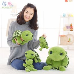 cat doll big eye Australia - 80cm 100cm Large Plush Toy Lovely Big Eyes Tortoise Soft Stuffed Animal Cushion Soft Small Sea Turtles Dolls for Kids Gift