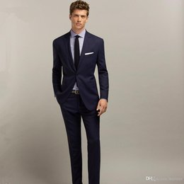 $enCountryForm.capitalKeyWord Australia - Hot Sale 2 Piece Men Suit Set Custom Made Shawl Lapel Slim Fit Wedding Tuxedos Business Men Suit (Jackets+Pants)