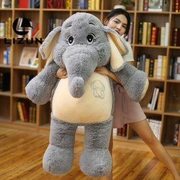 dreams plush 2019 - Gentle dream elephant large elephant plush doll toy to send girlfriend holiday gift with baby sleeping comfort doll chea