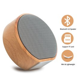 $enCountryForm.capitalKeyWord Australia - Wood Grain Bluetooth Speaker Subwoofer Wireless Speaker Stereo Outdoor Portable Speakers TF Card Aux Hole Port Home Speakers