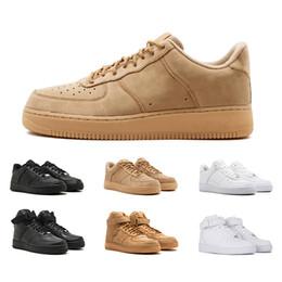 info for b46a6 03ef0 nike air force 1 2019 más nuevos hombres altos mujeres bajo negro blanco  trigo uno zapatos malla uno para mujer diseñador de deporte zapatillas  deportivas