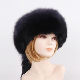 $enCountryForm.capitalKeyWord Australia - 2019 New Luxury Winter Women Natural Fox Fur Hat Warm Good Quality 100% Genuine Sheepskin Leather Cap Lady Real Fur Bomber Hats