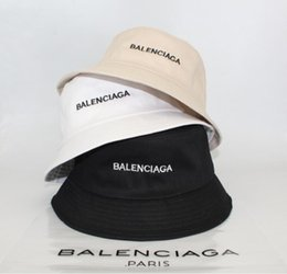 $enCountryForm.capitalKeyWord Australia - brand fashion luxury designer Leather Bucket Hat For Mens Womens Foldable Fishing Caps Fisherman Beach Sun Visor Sale Folding Man Bowler Cap