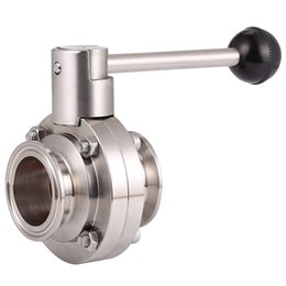 sanitary tri clamp NZ - 1-1 2 Inch 51Mm Sus 304 Stainless Steel Sanitary 2 Inch Tri Clamp Butterfly Flow Control Valve Homebrew Beer Dairy Product
