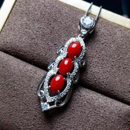 hand made products Australia - Natural coral necklace, 925 Sterling silver, new products, hand-made by large-brand designers. Recommendation for Women's Neckla