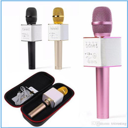 Vente en gros Q9 Bluetooth sans fil Microphone Portable Ordinateur de poche KTV Karaoke Player Double cornes Haut Parleur Haut-Parleur pour iPhone Samsung MQ20