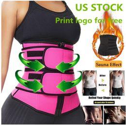 US STOCK, Men Women Shapers Waist Trainer Belt Corset Belly Slimming Shapewear Adjustable Waist Support Body Shapers FY8084 on Sale