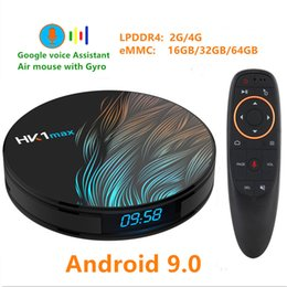 android box video UK - HK1 MAX Android 9.0 TV BOX 4K Youtube Google Assistant 4G 64G 3D Video receiver Wifi Play Store Set top Box
