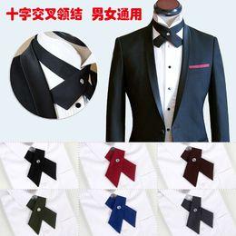 Groomsmen Ties Australia - Japanese Korean style cross-tie bow tie universal men and women collar flower groom married groomsmen banquet host bow tie wholesale