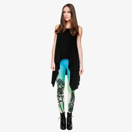 trees pencil UK - Girl Leggings Aurora Tree 3D Digital Full Print Fitness Pencil Pants Woman Spring Summer Autumn Trousers Lady Full Length Jeggings (Y29692)