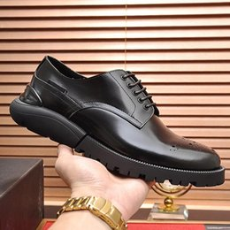 shoe box sales Australia - Formal Shoes Men Derby Shoes with Origin Box Leather Footwears Luxury Fashion Groom Wedding Men Dress High Quality Vintage Shoes Sale