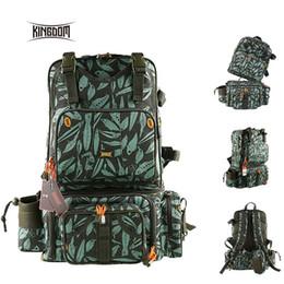 Fishing Gear Lures Australia - Kingdom 1000D Waterproof Nylon Multifunctional Fishing Tackle Backpack Detachable Combination Lure Backpacks Fishing Gear Bags #28403