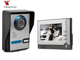 Security SyStem doorbell online shopping - Yobang Security quot inch Color LCD Screen Doorphone Door Intercom Video Intercom Doorbell System Release Unlock for Private House