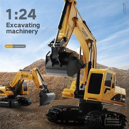 excavator gear UK - RC Toy Excavator Wireless Remote Control Excavator Creative Portable Environmental Toys Truck Model Toys