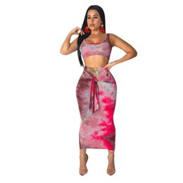 $enCountryForm.capitalKeyWord UK - Sexy Two Piece Set 2 Piece Set Women Two Piece Outfits Crop Top And Skirt Set Bodycon Matching Sets Autumn 2019 New