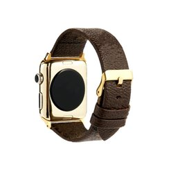 Wholesale smart i watch for sale - Group buy Monogram Snake Designer Luxury Smart Watch Leather Strap for A p p l e Bands i watch Series mm Watch Band Belt Buckle