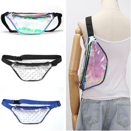 $enCountryForm.capitalKeyWord NZ - For Mobile Laser Hologram Clear Fanny Pack Crossbody Belt Shoulder Bags TPU Waist Bags Cash Pouch Women Sports Messenger Chest Bags C71701