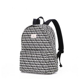 printed backpacks NZ - New Designer Alphabet Printing Student Bookbags Leisure Fashion Male and Female Travel Out Shoulder Backpacks White
