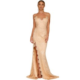 $enCountryForm.capitalKeyWord UK - Women Deep V-neck Party Dresses sling tube top lace Splitted Open dress Maxi Dresses wedding dress Backless Sexy Summer Sexy Ladies Vestido