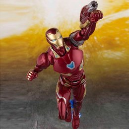 Bones Figures Australia - New The Avengers 4 Endgame SHF Ironman MK50 SHF Infinite war Steel bone The Flash model movable boxed Toy Action Figure Model