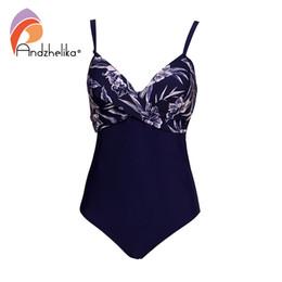 b48a19a481 wholesale Plus Size Swimwear Women One Piece Swimsuit Summer Large Cup Print  Sexy Fold Bodysuit Beach Bathing Suit
