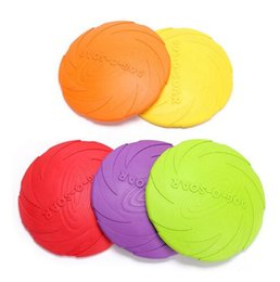 silicone dogs NZ - Silicone Dog Frisbee Bite Resistant Pet Dog Bowls and Feeders Soft Training Pet Flying Disc for large dogs Outdoor Pet Toy Rubber Fetch