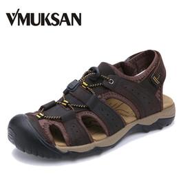 $enCountryForm.capitalKeyWord Australia - VMUKSAN New Sandals Men Comfortable Summer Man Shoes Fashion Casual Breathable Beach Shoes Mens Large Size 38-47
