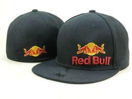 Hat Bulls Australia - Wholesale Team Bull Indians Fitted Hats Baseball Cap Flat-brim Hat Team Size Baseball Cap Indians Classic Retro Fashion