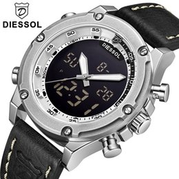 $enCountryForm.capitalKeyWord NZ - DIESSOL Top Brand Watch Men's Fashion Casual Quartz Sport Watch Men LED Digital Leather Waterproof Wrist Relogio Masculino