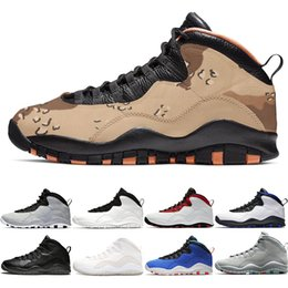 Discount mens snow sneakers Desert Camo 10s Basketball Shoes Men 10 Westbrook Cement Chicago Tinker Cool Grey Black Mens Designer Trainer Sports Sne