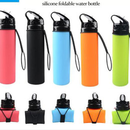 $enCountryForm.capitalKeyWord Australia - Silicone Collapsible Bottle Portable Folding Bicycle Kettle Light Weight Telescopic Cup Sports Water Bottles Outdoor Riding